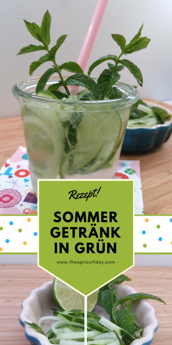 Sommergetränk in grün