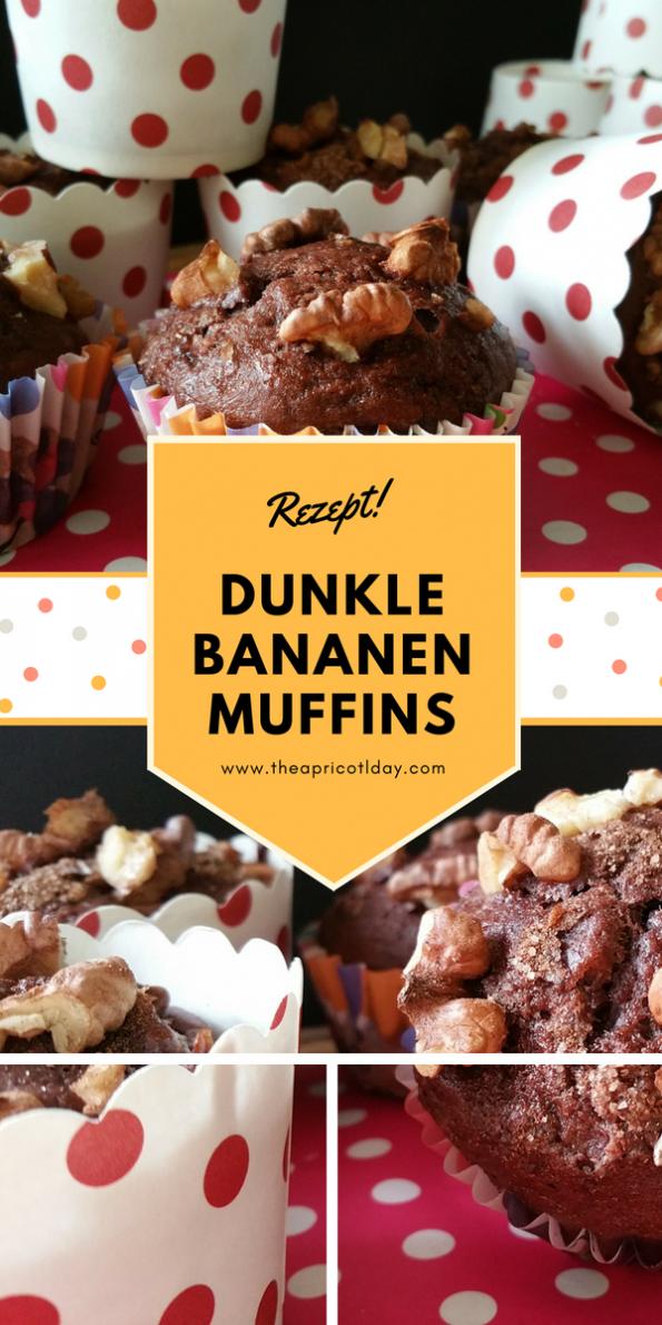 dunkle Bananen Muffins