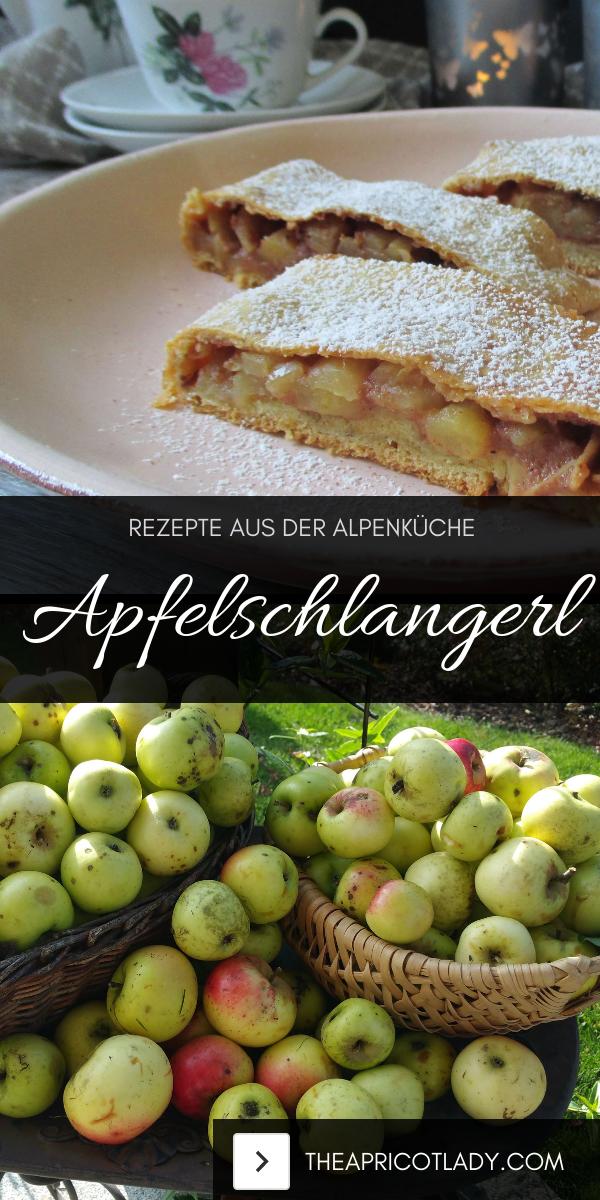 traditionelle Nachspeise aus Österreich - Apfelschlangerl - ein wahrer Genuss in rot-weiß-rot #vegge #apfel #rezept #selbstgemacht