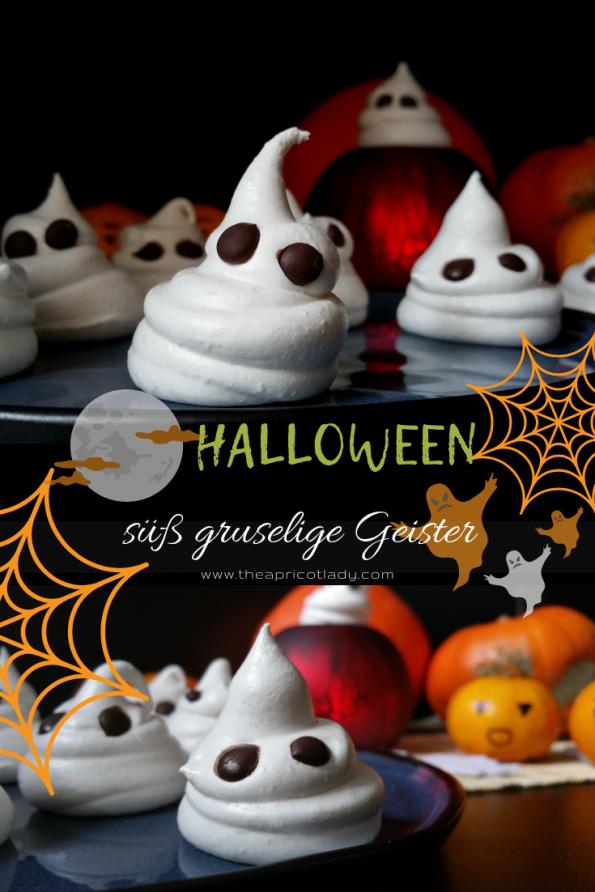 süß gruselige Geister - Halloween Süßigkeiten selbst machen und verschenken #halloween #selbstgemacht #food #süss #rezepte
