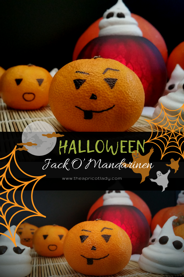 Jack O'Mandarinen einfach mit Kindern Halloween Snacks machen #halloween #mandarinen #snacks #frucht #diy