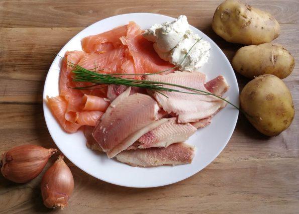 Kartoffel-Räucherfisch Burger