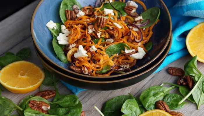 Salat mit gerösteten Karotten