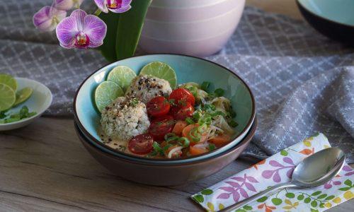 vegane Hafer-Curry Bowl