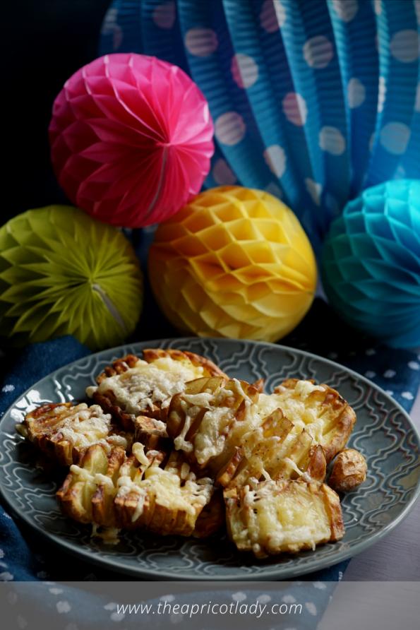 Knusperkartoffeln mit Käse überbacken