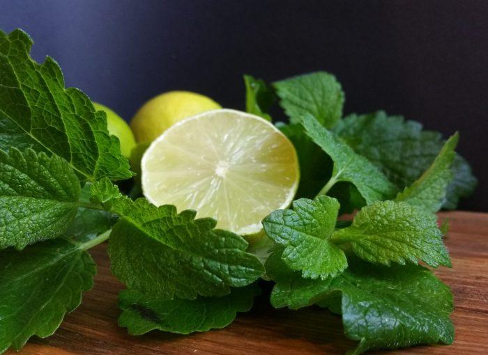 Zitronenmelisse und Limetten