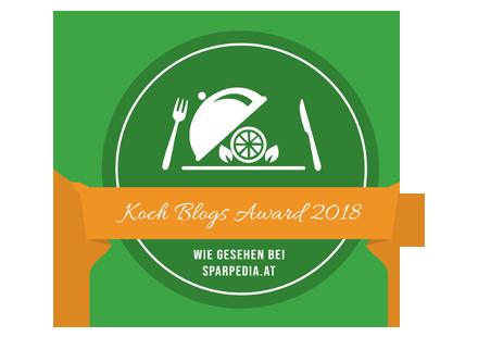 Banner für Koch Blogs Award 2018