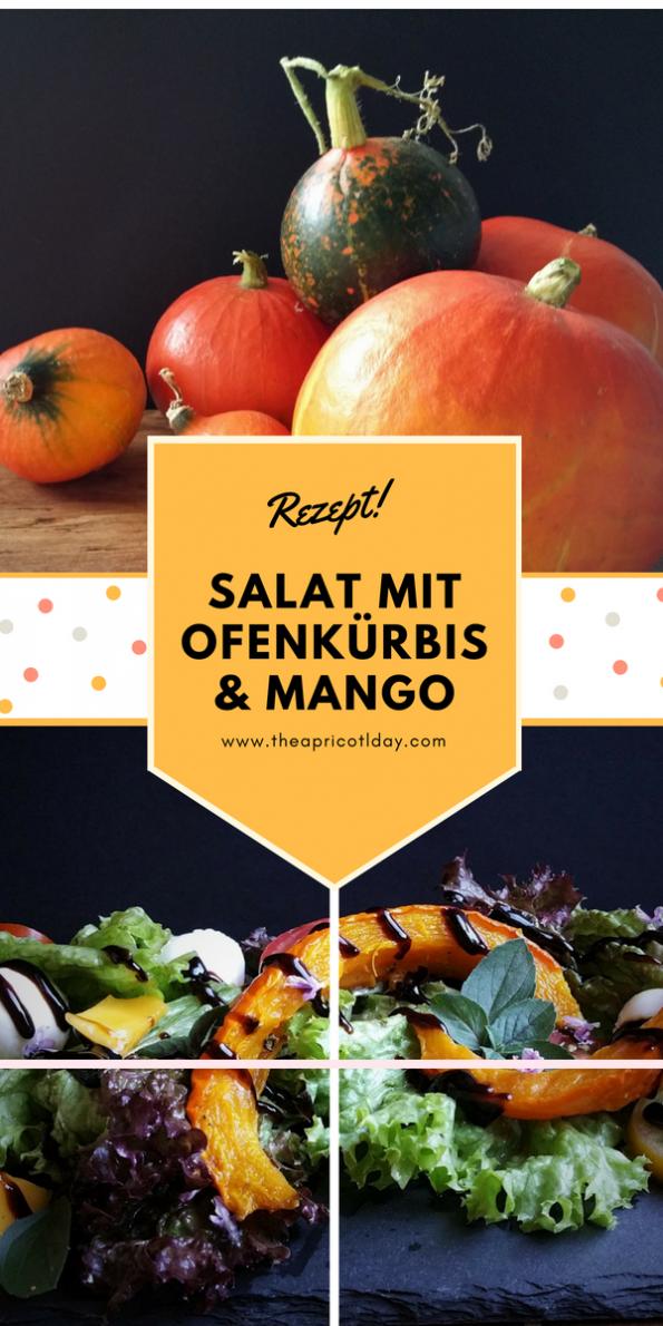 Salat mit Ofenkürbis & Mango