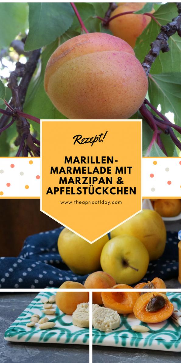 Marillenmarmelademit Marzipan & Apfelstückchen