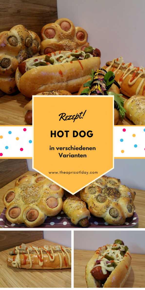 Hot Dog in verschiedenen Varianten