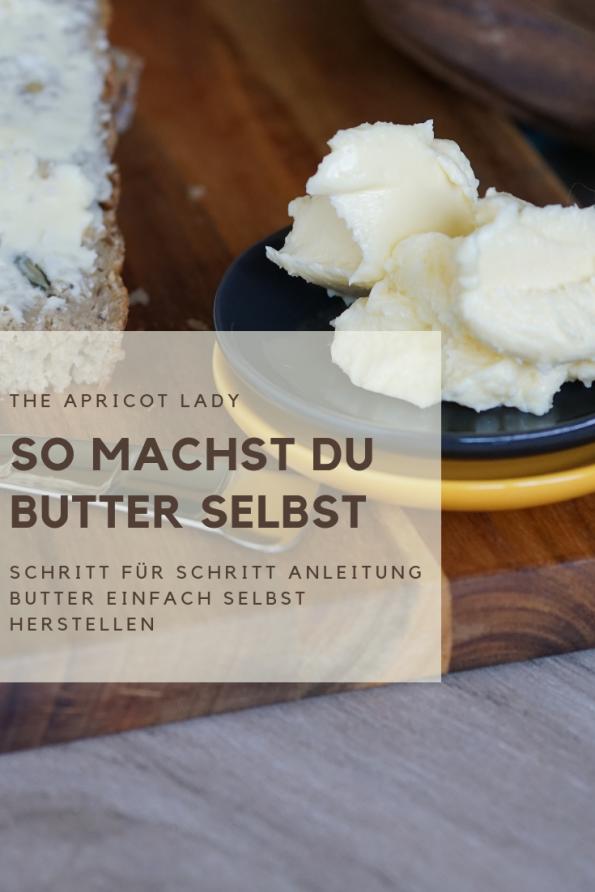 So machst du Butter selbst. Kochtipp für die Herstellung von Butter in der eignen Küche. #kochen #selbstgemacht #butter #food #essen #kochen