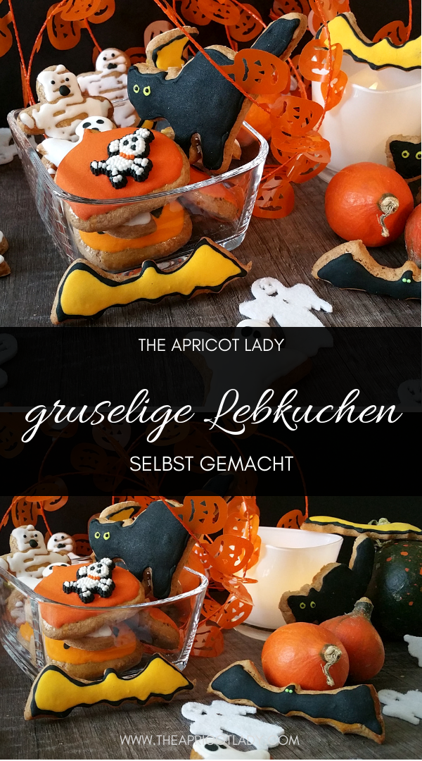 tolle Geschenkidee für Halloween - Lebkuchen in Halloweenoptik selbt gemacht #halloween #lebkuchen #snack #geschnek #rezepte