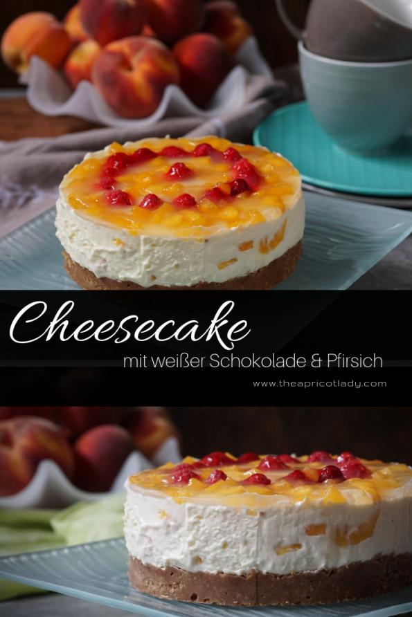 Cheesecake mit weißer Schokolade & Pfirsich – no bake, einfach gemacht. #rezepte #cheesecake #nobake #schokolade #süsses