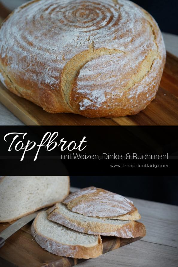 so machst su Topfbrot mit Weizen-, Dinkel- & Ruchmehl #backen #brot #hausgemacht# essen #brotzeit