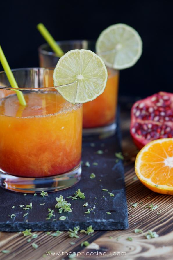 so machst du einen schaurig fruchtigen Halloween-Vitaminkick #halloween #fruchtig #saft #grantapfel #satsuma