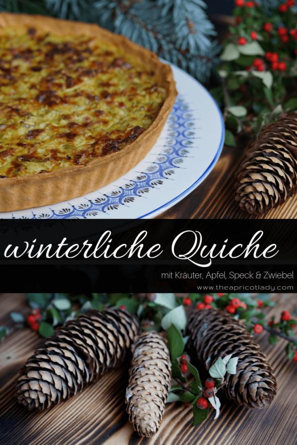 Winterliche Quiche mit Speck, Kräuter, Apfel & Zwiebel Tolle Möglichkeit Reste zu verwerten - super köstlich! #rezepte #bacon #quiche #tarte #backen