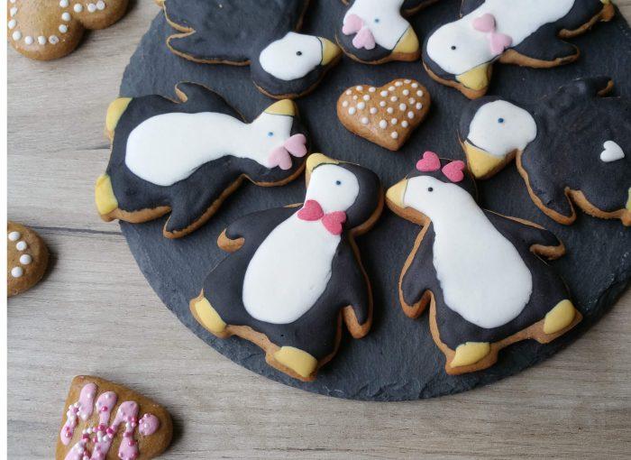 süße Lebkuchen Pinguine