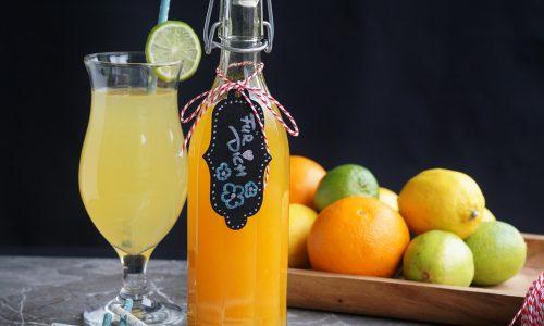 erfrischender Orangen-Zitronen Sirup