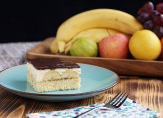 herrlich cremige Bananenschnitte