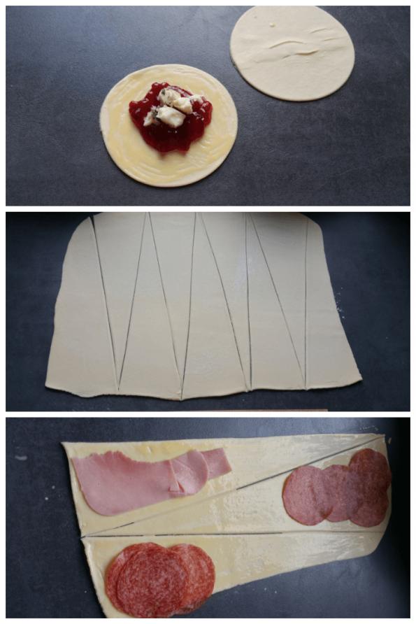 Fingerfood aus Topfenblätterteig