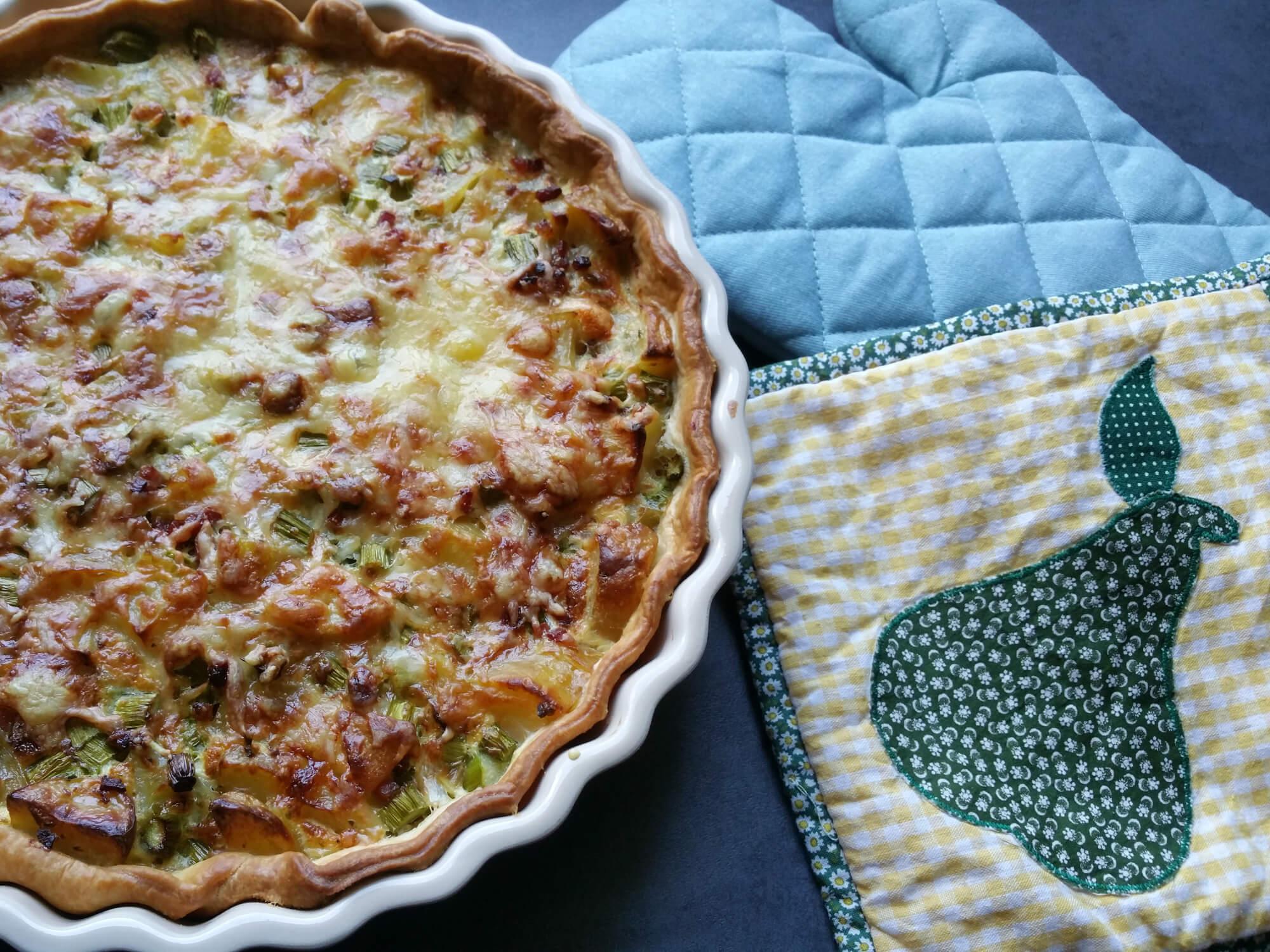 Spargel Kartoffel Quiche mit Bacon – nachhaltig Kochen mit Resten
