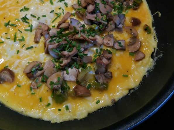 Omelette mit Pilzen