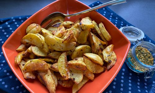 knusprige Potato Wedges aus dem Backofen