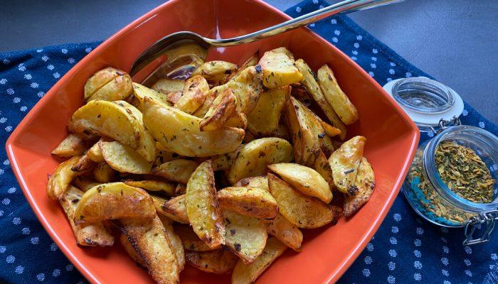 knusprige Potato Wedges aus dem Backofen