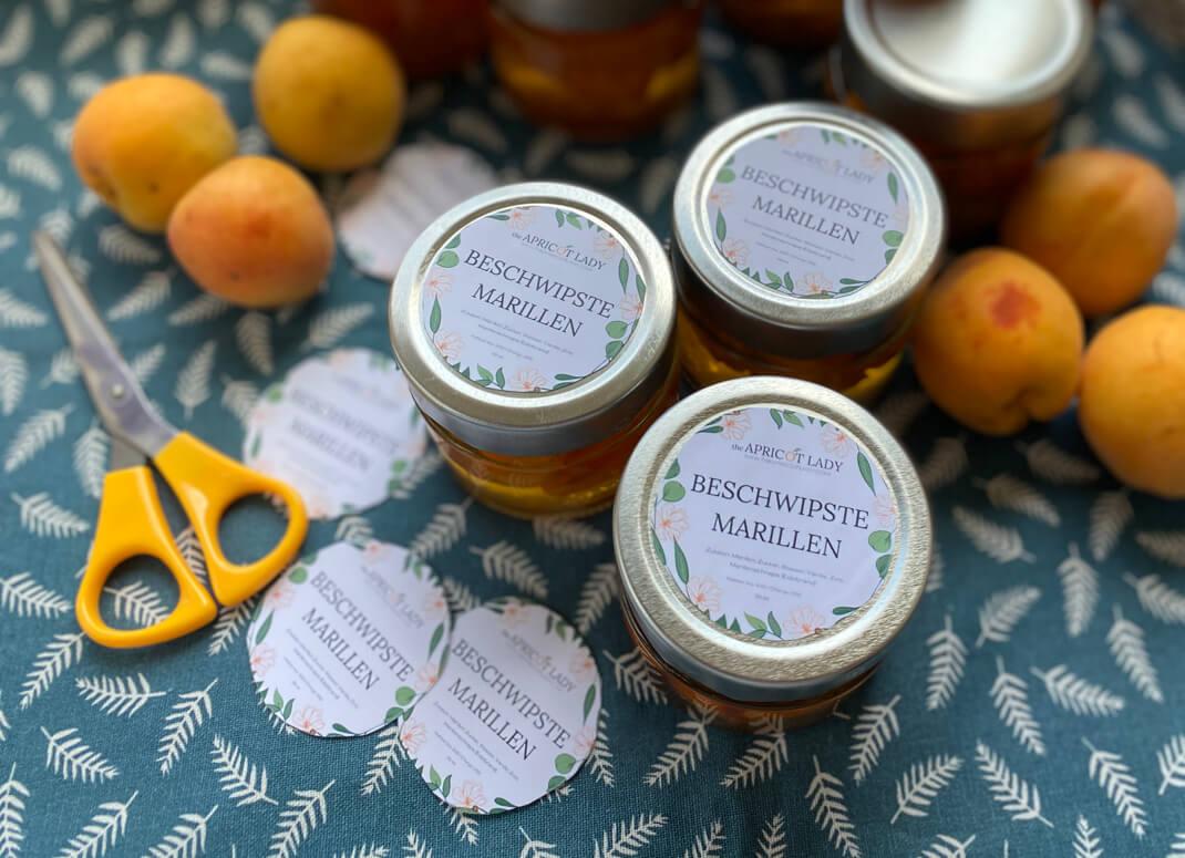 Beschwipste Marillen (Marillen einlegen) - The Apricot Lady