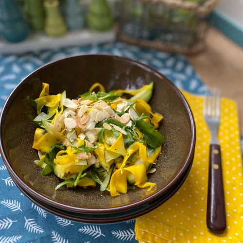 Zucchini Rucola Salat