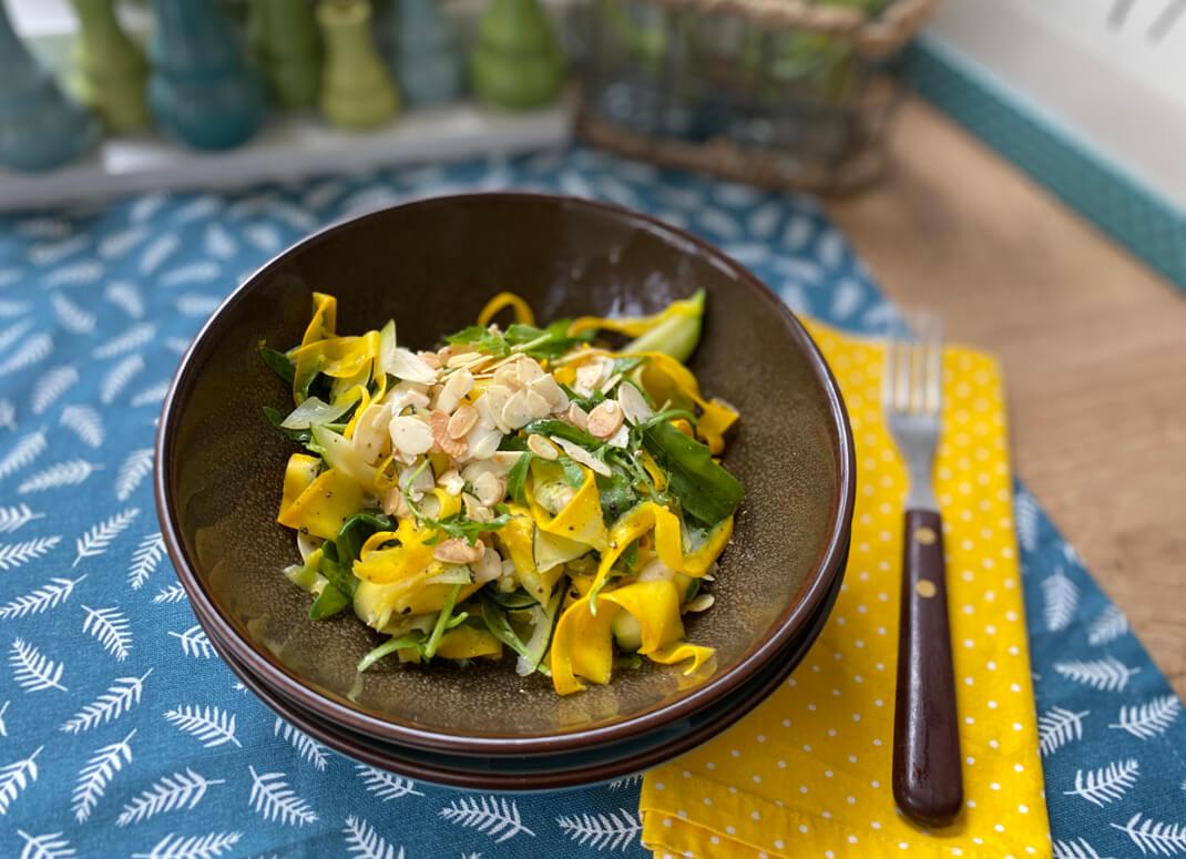 Zucchini Rucola Salat - The Apricot Lady