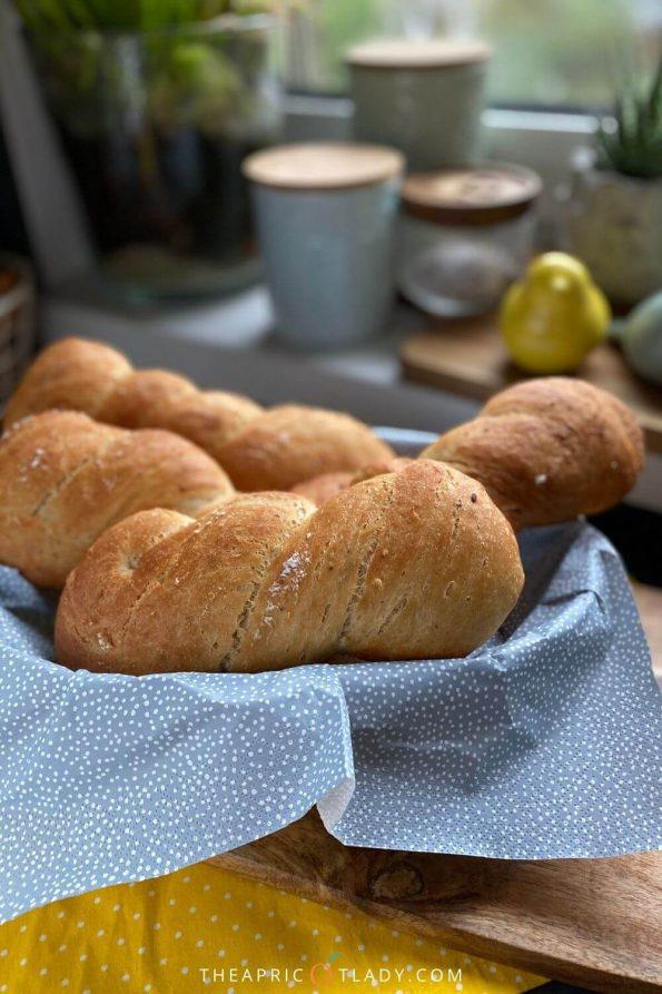 no-knead Brötchen / Sandwichbrötchen