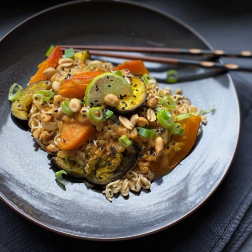 Rezept Erdnuss-Curry mit Ofengemüse