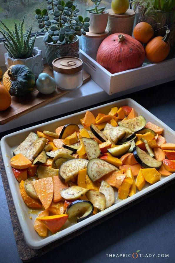 Ofengemüse für Erdnuss-Curry