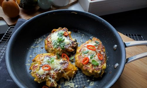 einfache Gemüsepuffer – Resteverwertung