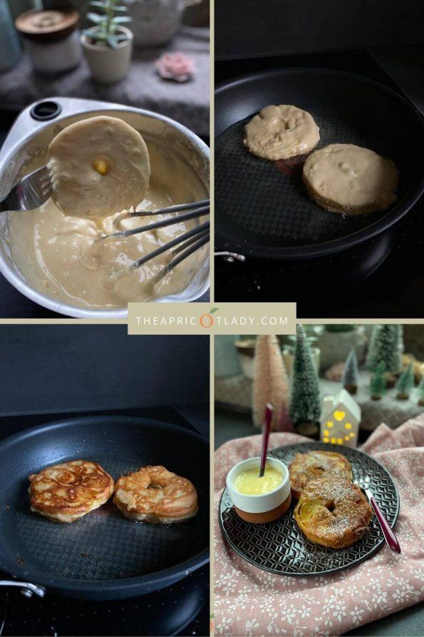 schnelle gebackene Apfelringe