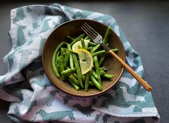warmer grüner Bohnensalat